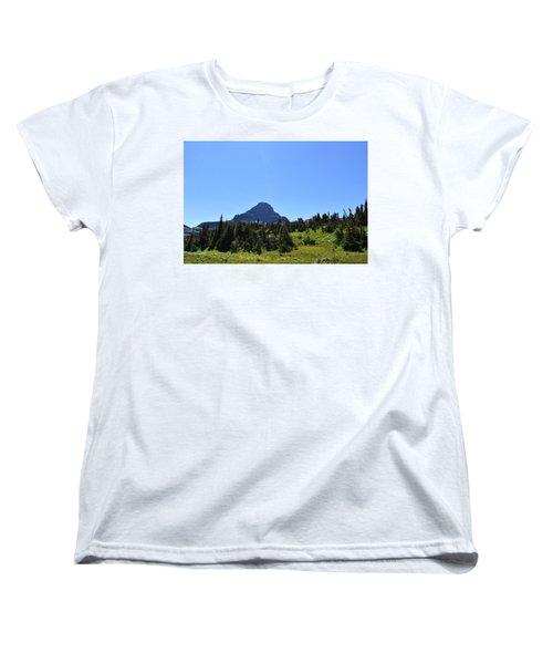 Women's T-Shirt (Standard Cut) featuring the photograph View From Logan's Pass by Dacia Doroff