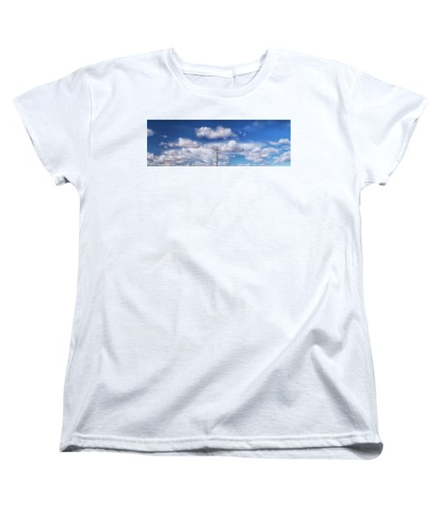 View Of A Phone Pole Women's T-Shirt (Standard Cut) by Gary Warnimont