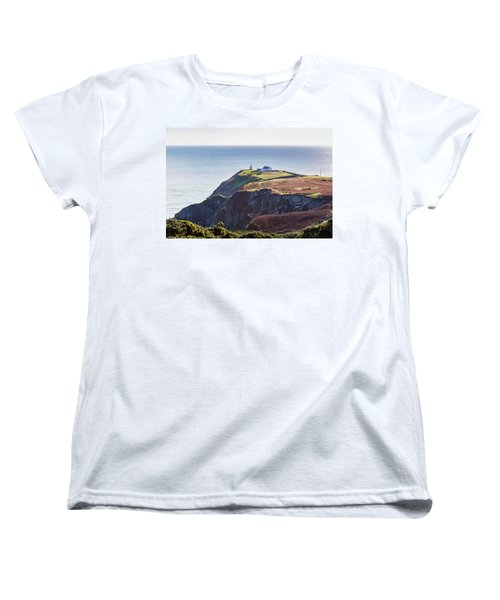 Women's T-Shirt (Standard Cut) featuring the photograph View Of The Trails On Howth Cliffs And Howth Head In Ireland by Semmick Photo