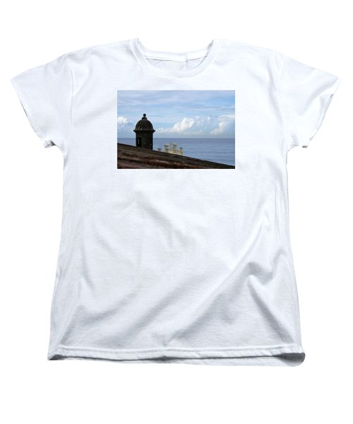 Women's T-Shirt (Standard Cut) featuring the photograph View To The Sea From El Morro by Lois Lepisto