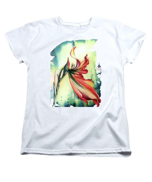 Women's T-Shirt (Standard Cut) featuring the painting Viewpoint by Anna Ewa Miarczynska