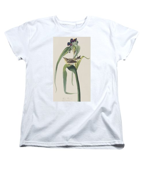 Vigor's Warbler Women's T-Shirt (Standard Cut) by John James Audubon