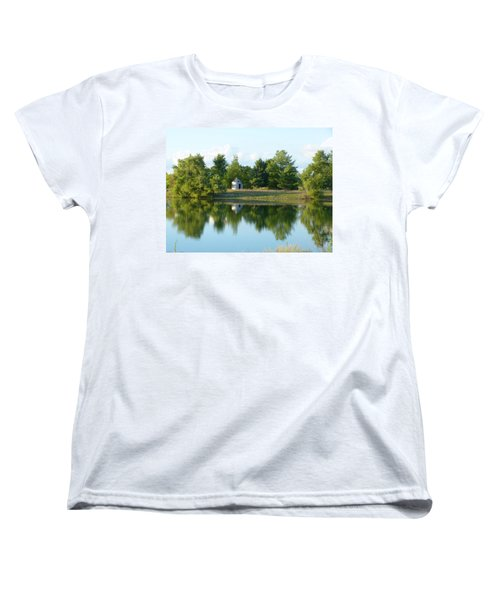 Village In Ohio Women's T-Shirt (Standard Cut) by Donald C Morgan