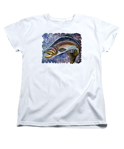 Vintage Blue Trout Fresco  Women's T-Shirt (Standard Cut)