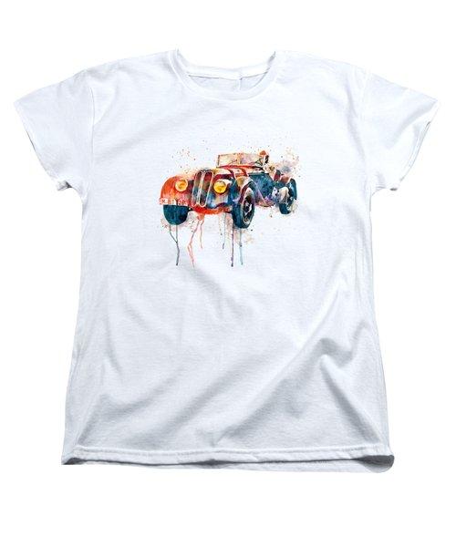 Vintage Bmw Watercolor Women's T-Shirt (Standard Cut) by Marian Voicu
