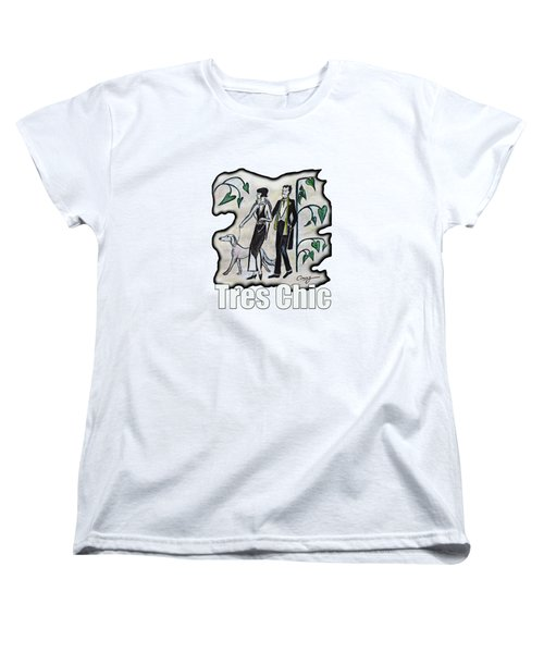 Vintage Fashion Tres Chic Women's T-Shirt (Standard Cut) by Tom Conway