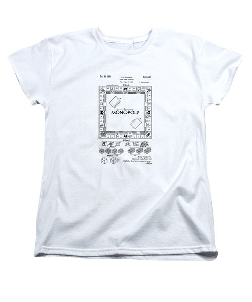 Vintage Monopoly Patent 1935 Women's T-Shirt (Standard Cut) by Bill Cannon