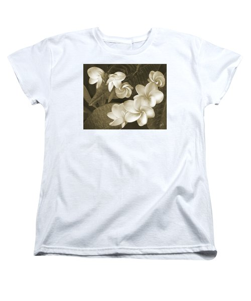 Women's T-Shirt (Standard Cut) featuring the photograph Vintage Plumeria by Ben and Raisa Gertsberg