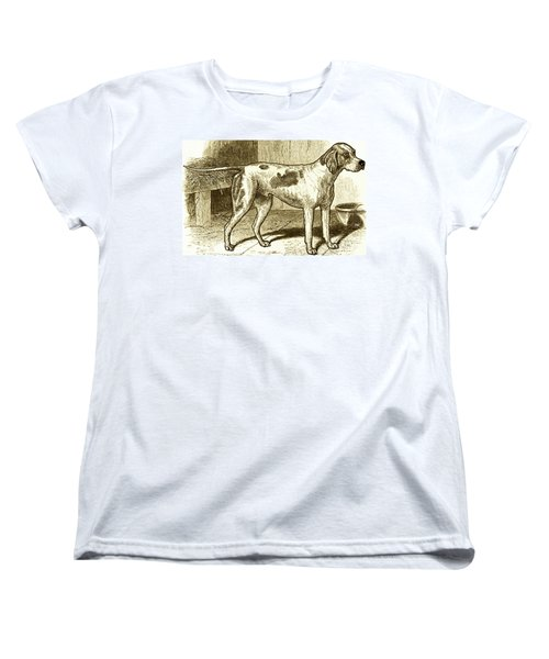 Vintage Sepia German Shorthaired Pointer Women's T-Shirt (Standard Cut) by Marian Cates