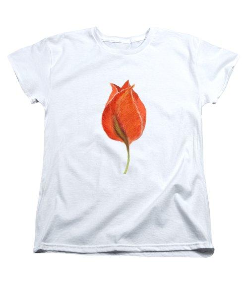 Vintage Tulip Watercolor Phone Case Women's T-Shirt (Standard Cut) by Edward Fielding
