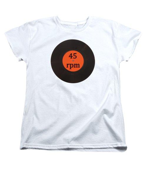 Vinyl Record Vintage 45 Rpm Single Women's T-Shirt (Standard Cut) by Tom Conway