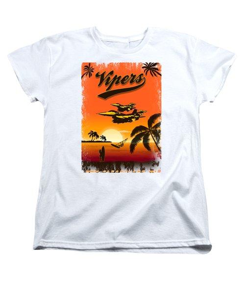 Vipers  F16 Women's T-Shirt (Standard Cut) by Clear II land Net