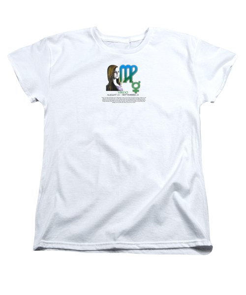 Virgo Sun Sign Women's T-Shirt (Standard Cut) by Shelley Overton