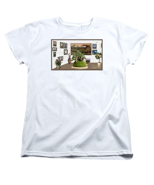 Virtual Exhibition -  Bonsai Palm 17 Women's T-Shirt (Standard Cut) by Pemaro