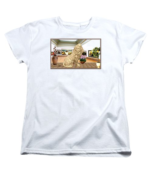 Virtual Exhibition - Statue Of A Lion Women's T-Shirt (Standard Cut) by Pemaro