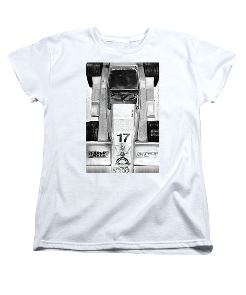 Women's T-Shirt (Standard Cut) featuring the mixed media Vroom by Tony Rubino