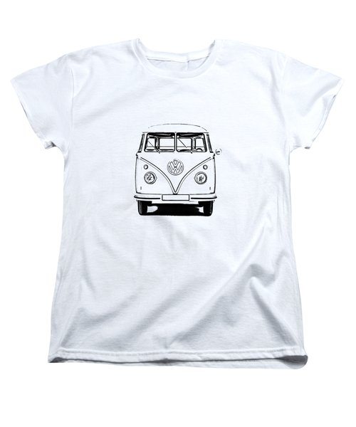 Vw Bus T-shirt Women's T-Shirt (Standard Cut) by Edward Fielding