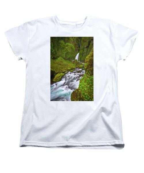 Women's T-Shirt (Standard Cut) featuring the photograph Wahclella Falls by Darren White