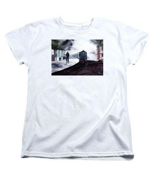 Women's T-Shirt (Standard Cut) featuring the painting Waiting by Anil Nene