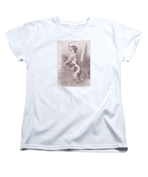 Walkies? Women's T-Shirt (Standard Cut) by David Davies