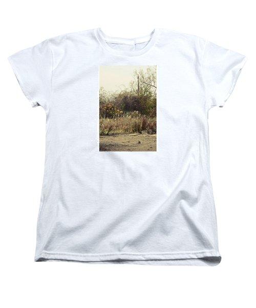 Walking By The Lake  #landscape #lake Women's T-Shirt (Standard Cut) by Mandy Tabatt