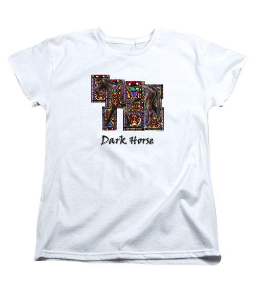 Walking Horse 2 Dark Horse Women's T-Shirt (Standard Cut) by Tom Conway
