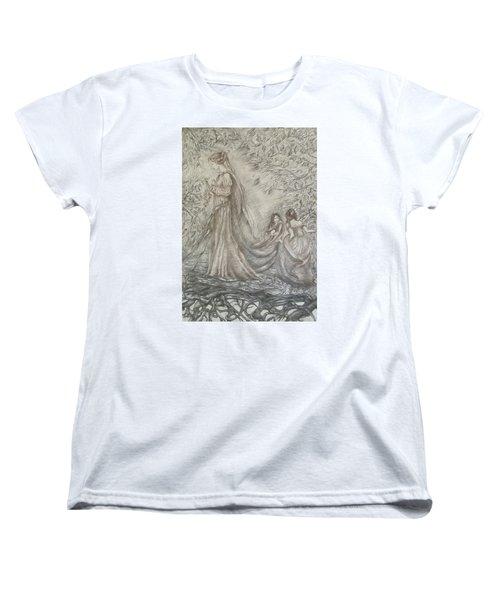 Walking In The Magic Garden Women's T-Shirt (Standard Cut) by Rita Fetisov