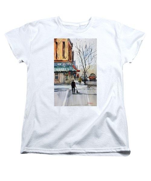 Walking The Dog Women's T-Shirt (Standard Cut) by Ryan Radke