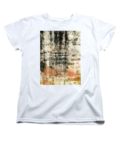 Women's T-Shirt (Standard Cut) featuring the photograph Wall Abstract 182 by Maria Huntley