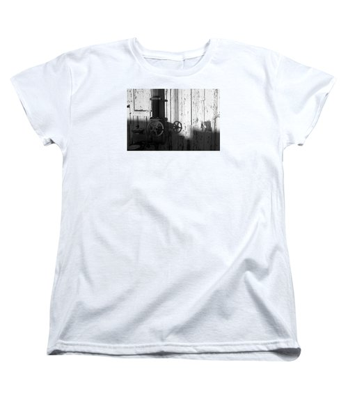 Wall Pipe Shadows Women's T-Shirt (Standard Cut) by Catherine Lau