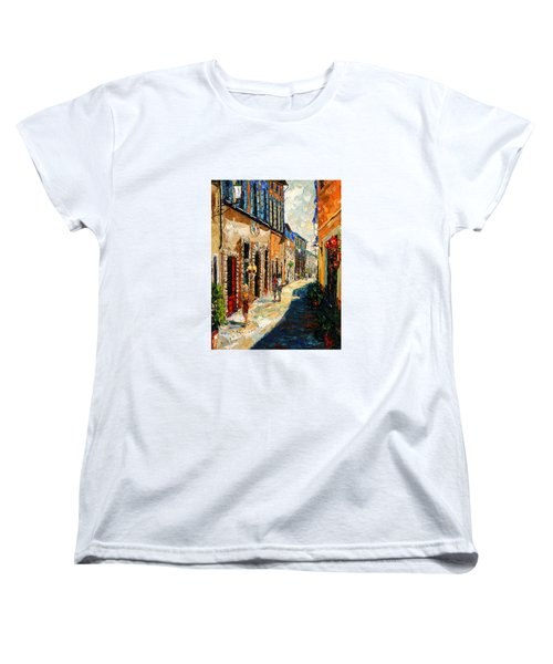Warmth Of A Barcelona Street Women's T-Shirt (Standard Cut) by Andre Dluhos