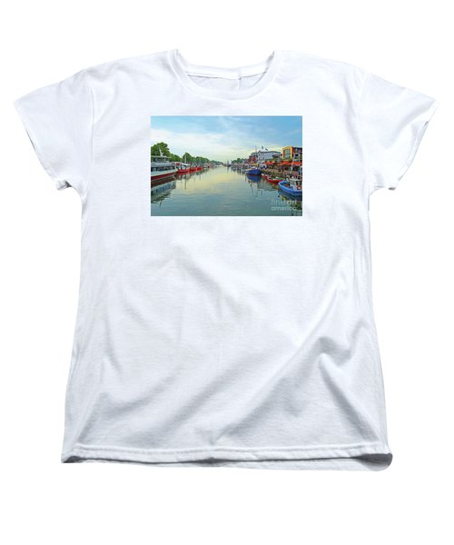 Warnemunde Germany Port Women's T-Shirt (Standard Cut) by Eva Kaufman