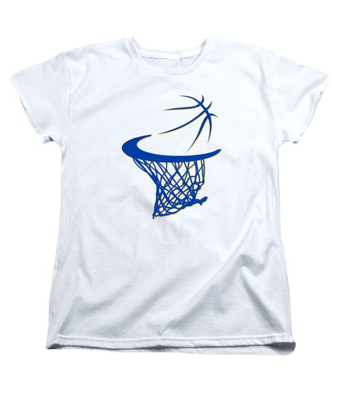 Warriors Basketball Hoop Women's T-Shirt (Standard Cut) by Joe Hamilton