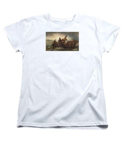 Washington Crossing The Delaware Women's T-Shirt (Standard Cut)