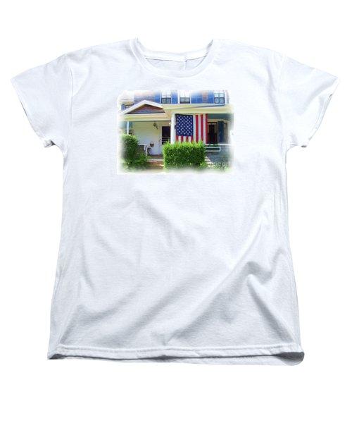 Watch Hill Ri Cottage Women's T-Shirt (Standard Cut) by Joan Hartenstein