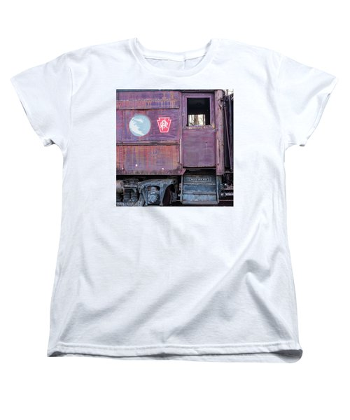 Watch Your Step Vintage Railroad Car Women's T-Shirt (Standard Cut) by Terry DeLuco