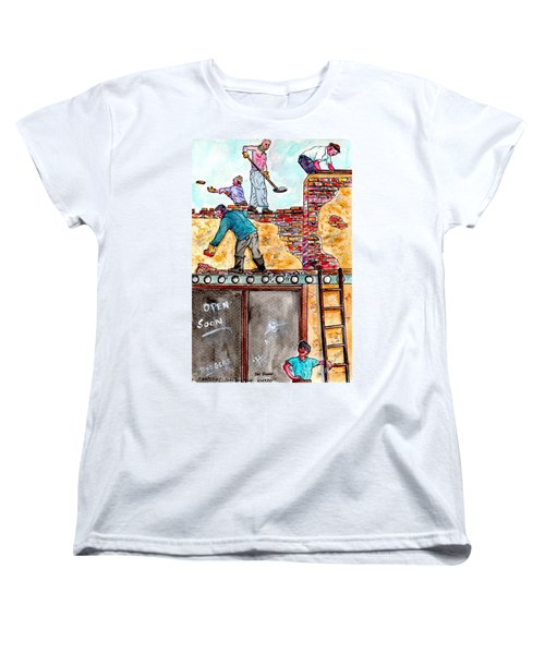 Watching Construction Workers Women's T-Shirt (Standard Cut)