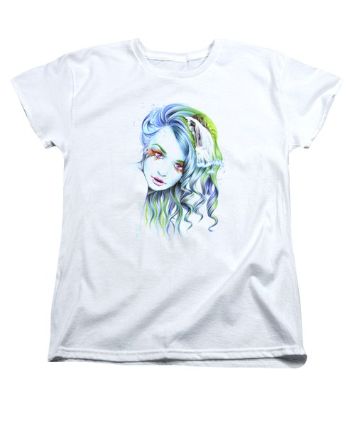 Water Women's T-Shirt (Standard Cut) by E Drawings