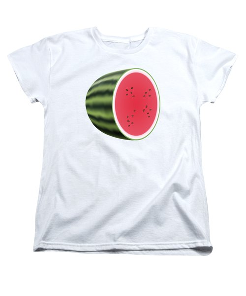 Water Melon Women's T-Shirt (Standard Cut) by Miroslav Nemecek