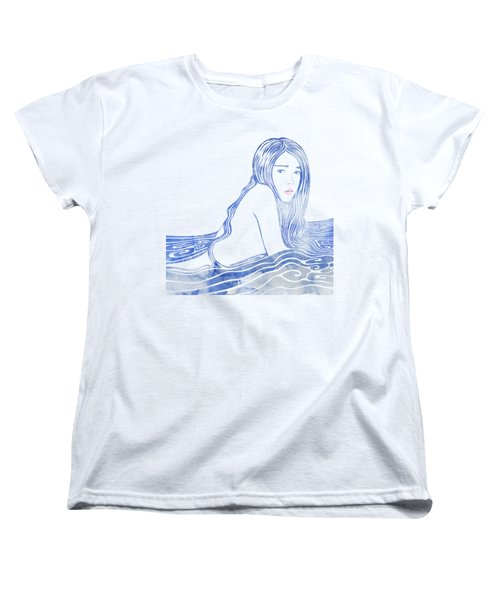 Water Nymph Lxxvi Women's T-Shirt (Standard Cut) by Stevyn Llewellyn