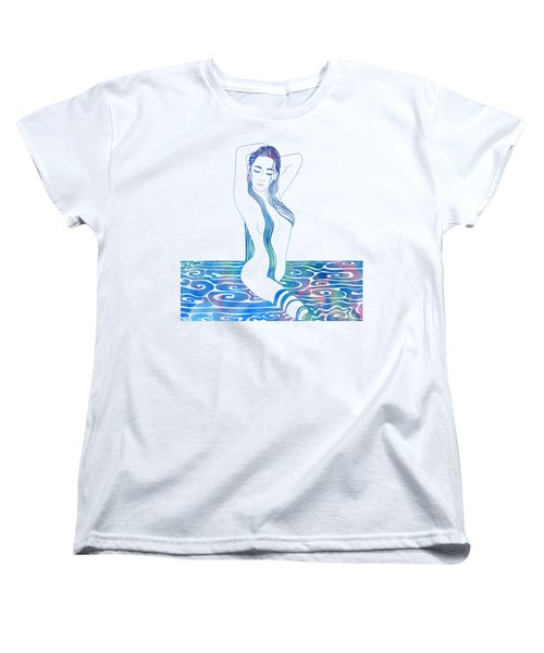 Water Nymph Xciii Women's T-Shirt (Standard Cut) by Stevyn Llewellyn