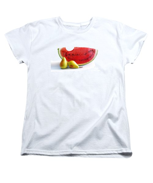 Watermelon And Pears Women's T-Shirt (Standard Cut) by Carlos Caetano