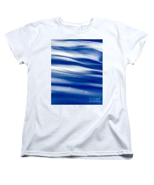 Waves Of Diamonds Women's T-Shirt (Standard Cut) by Jennifer Lake