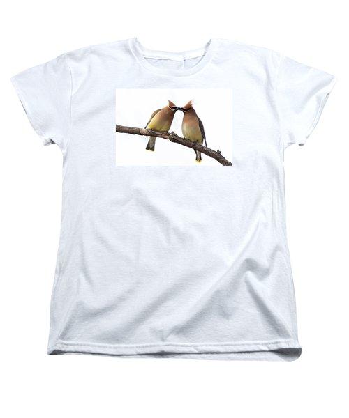 Waxwings In Love Women's T-Shirt (Standard Cut) by Mircea Costina Photography