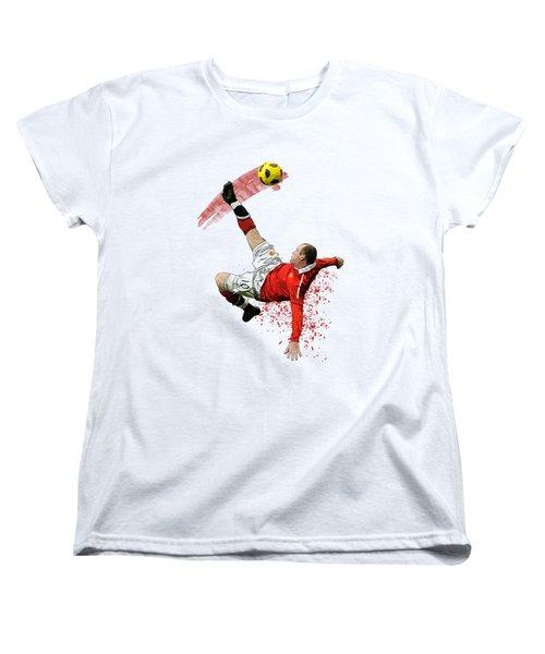 Wayne Rooney Women's T-Shirt (Standard Cut) by Armaan Sandhu