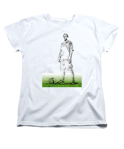 Wayne Rooney Women's T-Shirt (Standard Cut) by ISAW Gallery