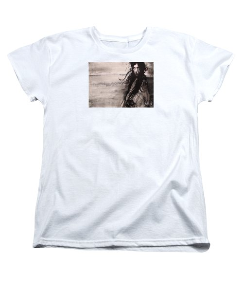 Women's T-Shirt (Standard Cut) featuring the painting We Dreamed Our Dreams by Jarmo Korhonen aka Jarko