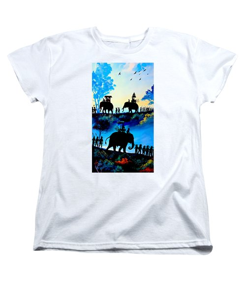 We March At Sunrise  Women's T-Shirt (Standard Cut) by Ian Gledhill