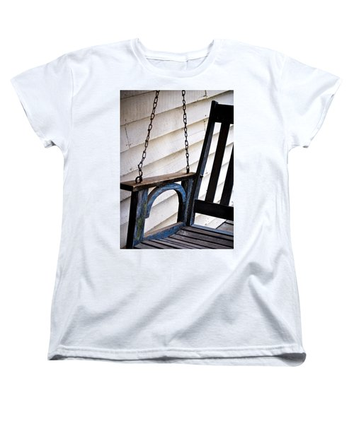 Weathered Porch Swing Women's T-Shirt (Standard Cut) by Debbie Karnes