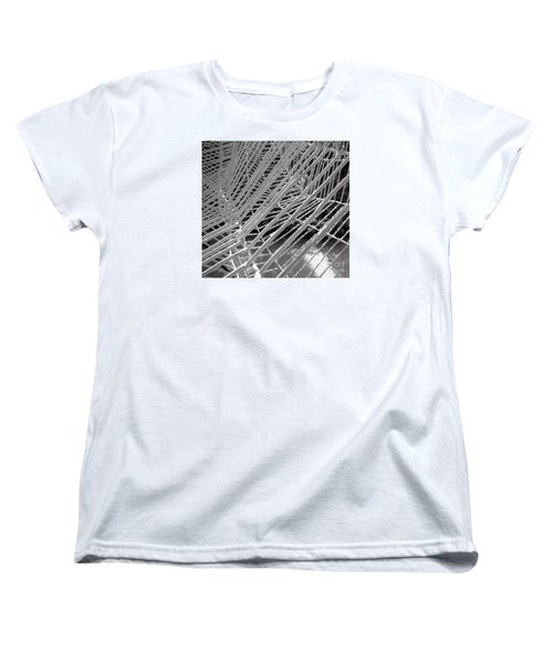 Women's T-Shirt (Standard Cut) featuring the photograph Web Wired by Cathy Dee Janes